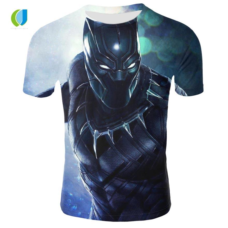 7e8c9638c037 3D Men And Women Marvel Black Panther Print Short Sleeved European And  American High Quality T Shirt Summer Shirt Design Tee Shirts T Shirt Funny  From ...