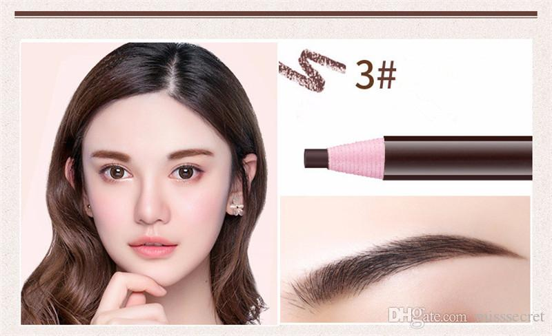Crayons à sourcils en papier de haute qualité Étanche Enhancer pour sourcils Fil doux Crayon Cosmétiques Maquillage Pour Les Yeux Outil de Beauté