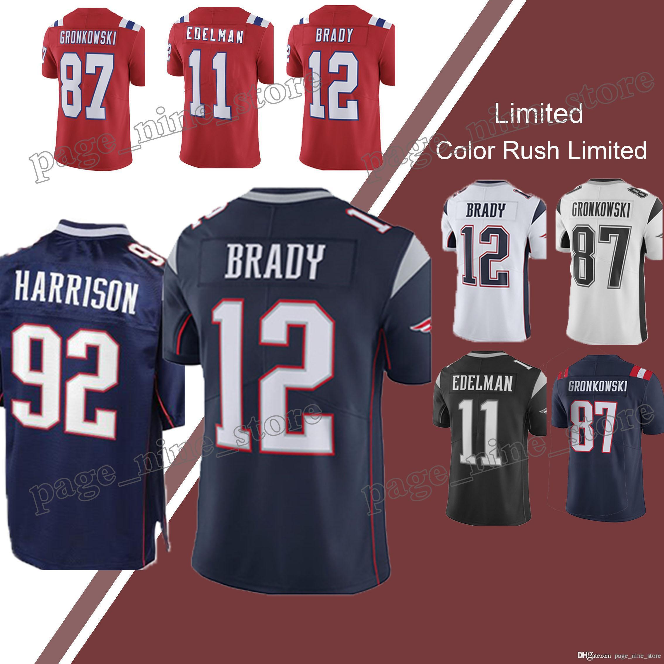 04896c793 ... salute to service 4a784 99bd1  spain 2018 new patriot 12 tom brady  jerseys limited 10 jimmy garoppolo jersey 11 julian edelman