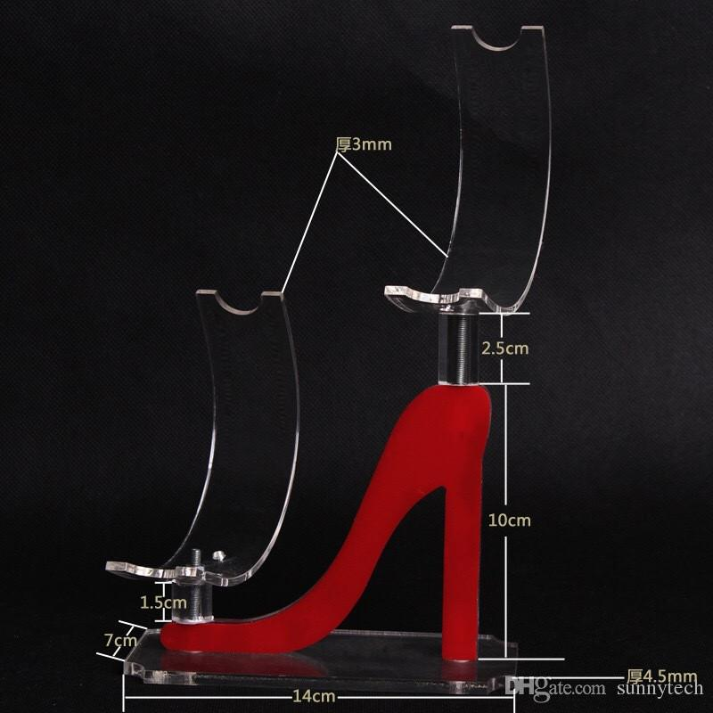 Акриловый дисплей пластиковая полка поддержки обуви на высоких каблуках женская обувь витрина стойка для обуви U-образная рама