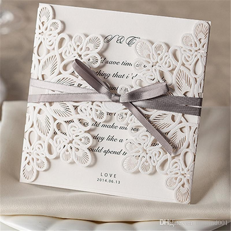 Wedding Lace Invitations Leave Message Paper Cards Gift Decor Card ...