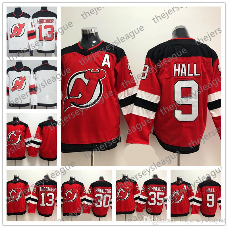 new styles 30d1e 6536b New Jersey Devils Mens Womens Youth 2018 New Brand #9 Taylor Hall 13 Nico  Hischier 30 Martin Brodeur Blank Red White Hockey Jersey