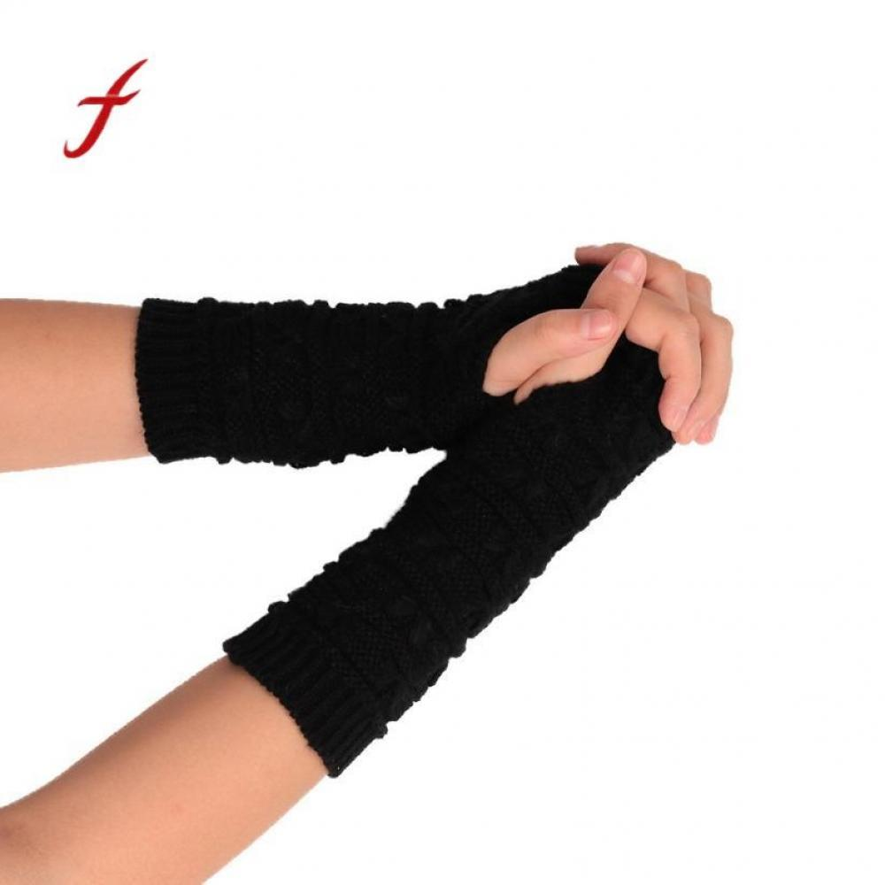 90f74996572f8 Knitted Quality Winter Feitong Fingerless Soft Mittens Gloves Female ...