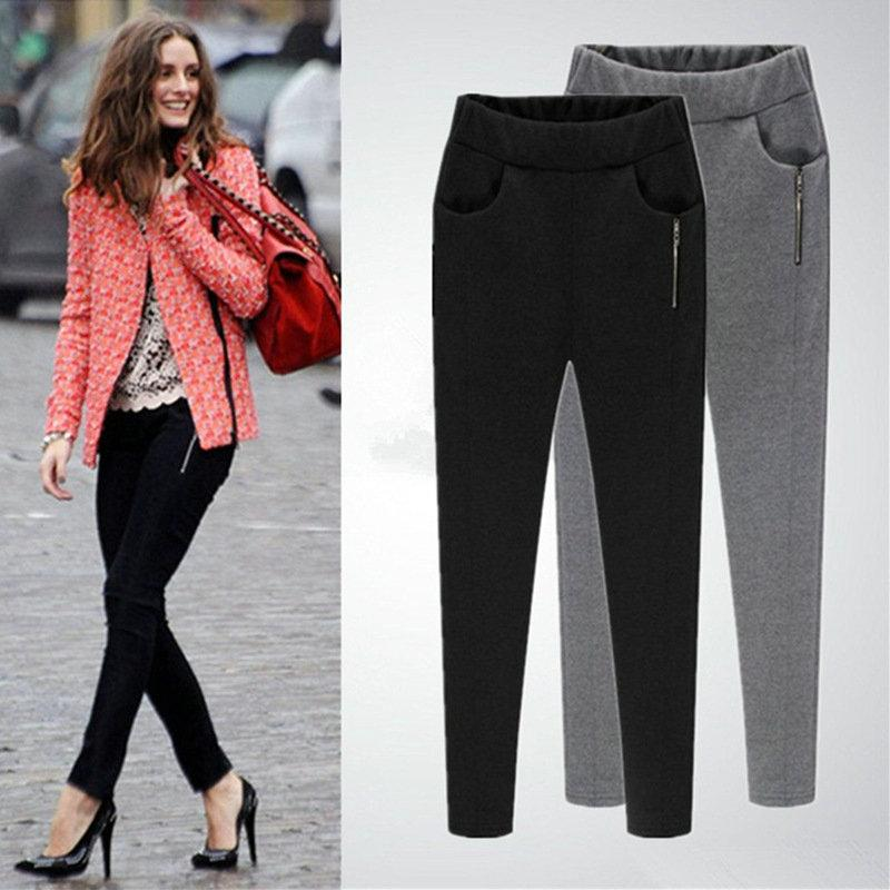 7fb7bdf289d99 L XL 2XL 3XL 4XL 5XL plus size casual womens pant fashion sport trousers  autumn winter little feet pants