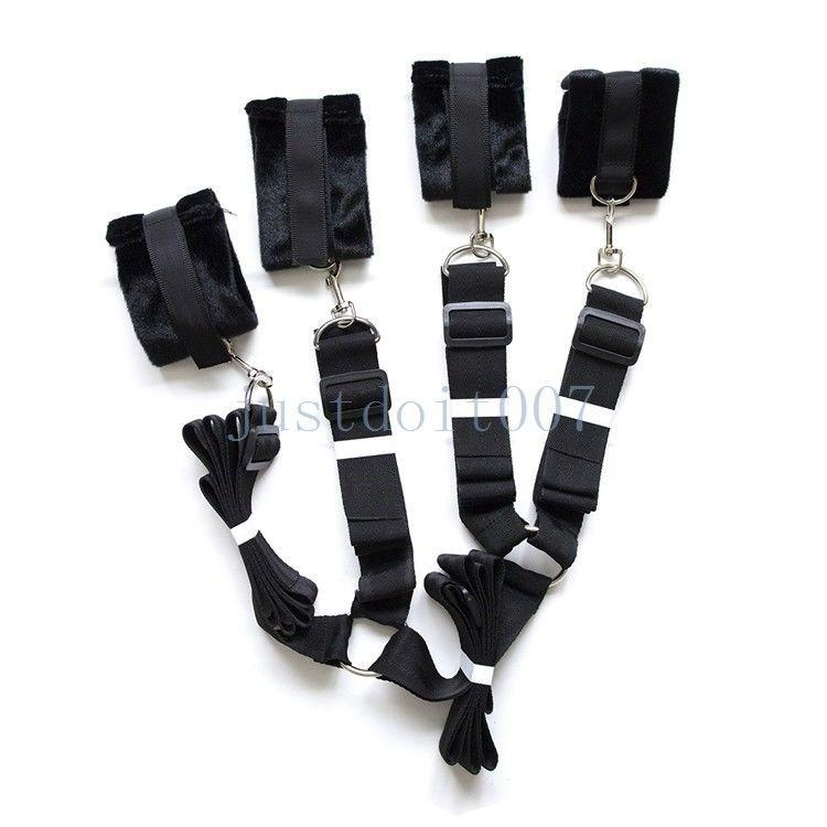 Bed Restraint System Strength Nylon Straps With Thick Plush Cuffs  Adjustable New  R98 Bondage Dresses Bondage Leather From Zgmtai