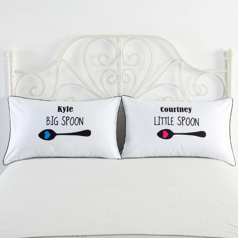 19 Style Ensemble de 2 couples taie d'oreiller