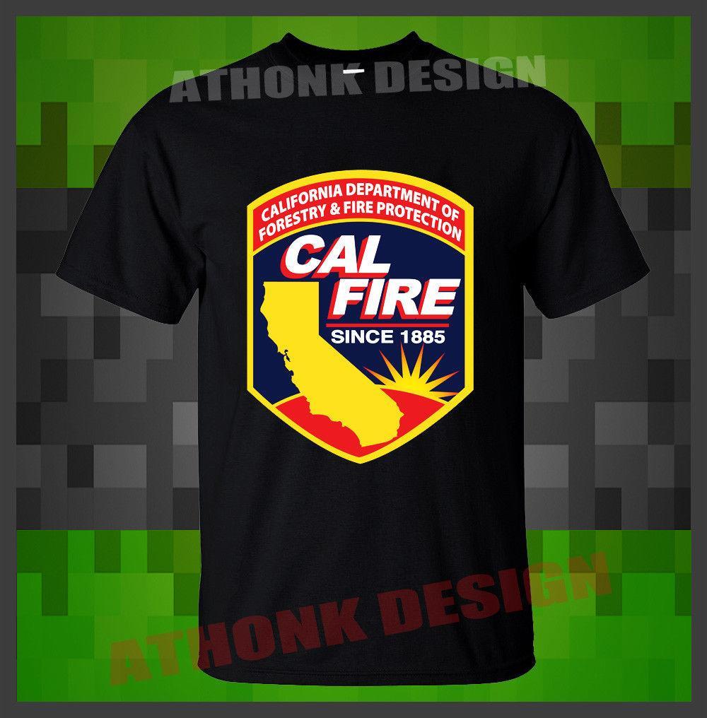 New Cal Fire California Firefighter Fire Department T Shirt O Neck