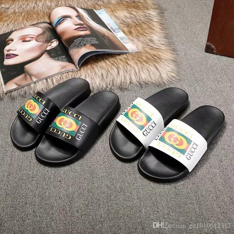 dbd0fa8b28e 2018 New Fashion Men And Women Casual Sandals Luxury Design Beach ...