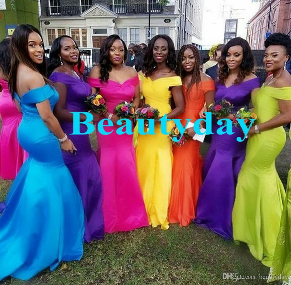 Nigerian Wedding Party: Bridesmaid Dresses 2019 New African Style For Nigerian
