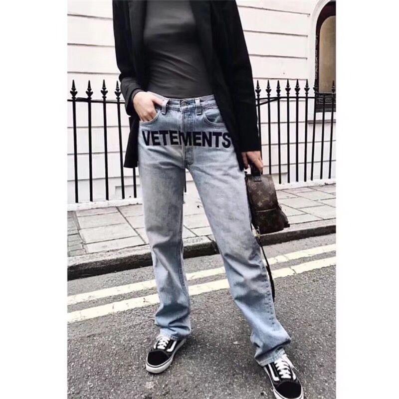 18ss Ripped Jeans Best Version Women Men Jeans trouser jumpsuit urban hip hop punk motorcycle blue distressed