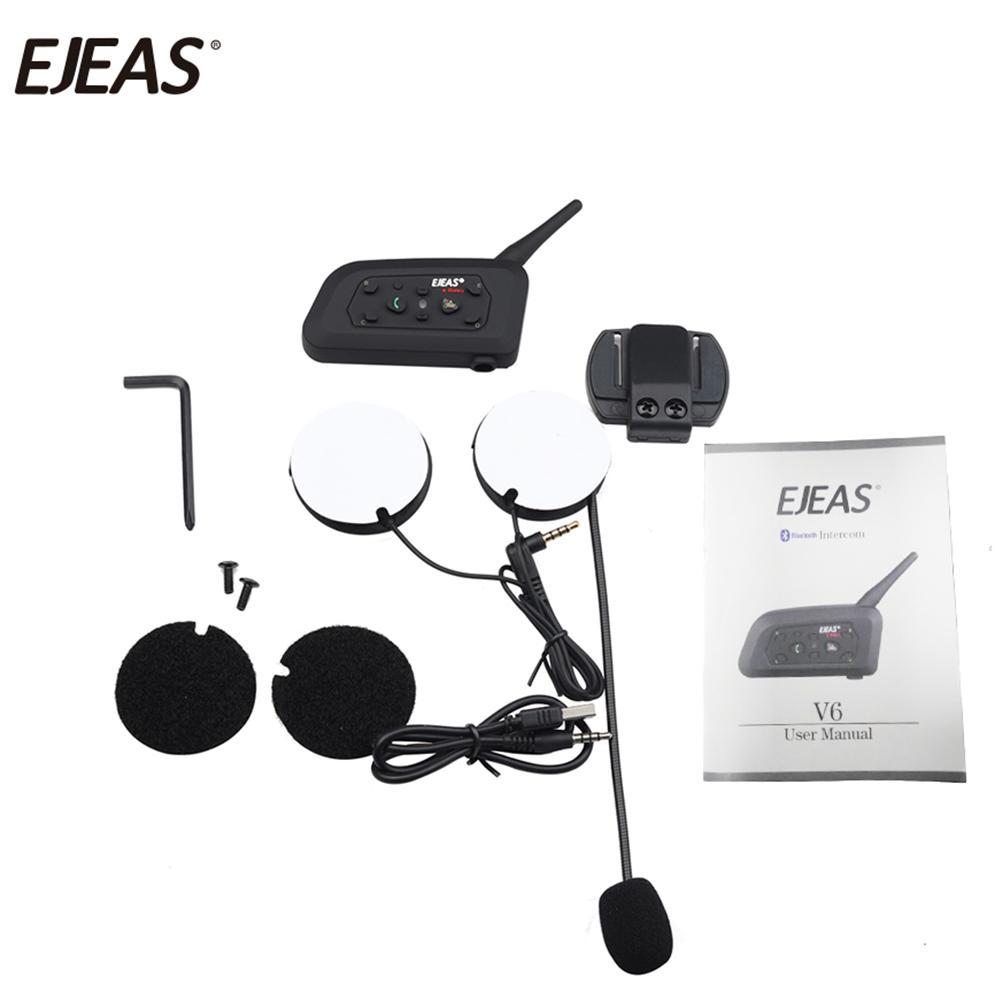 8fa4c671cbf EJEAS V6 1200M Bluetooth Helmet Intercom For 6 Riders Motorcycle BT  Interphone Mobile Wireless Comunicador Moto Helmet Headsets Novelty  Motorcycle Helmet ...
