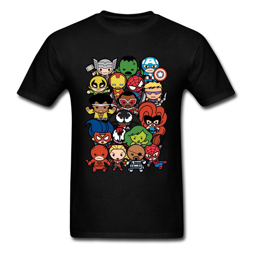 3f7d4ff11bd Marvel Cartoon Characters T Shirt Men Tees Cheap T Shirt O Neck Cotton  Short Sleeve Tops TShirt For Men T Shirts Summer Fall All T Shirt Order Tee  Shirts ...