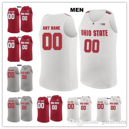 2019 Custom OSU Buckeyes Stitched Any Name Any Number Mens Women Youth 23 LeBron  James College Basketball Kids Red White Gray Jersey From Gamemen 9f6993b35e