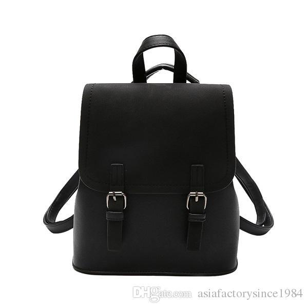 Cute Backpack Women Backpacks Fashion Small School Bags For Girls Black  Scrub PU Leather Female Backpack Mochila 2018 New Cheap Backpacks Rolling  Backpack ... 6e138ecc95225