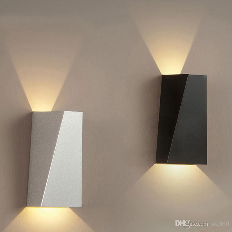 Hall Toilettes Lecture Applique Tête W Lampe Mordern Géométrie Couloir Pour 10 Murale Chambre Salle Bains Led Double De O8nP0wXk