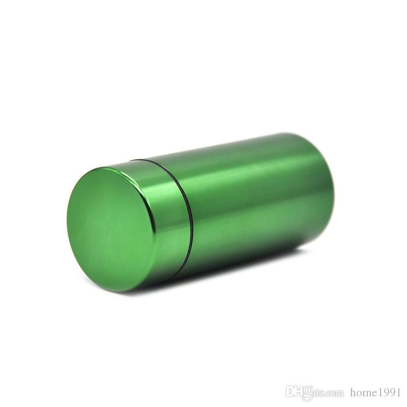 Большой Металлический Водонепроницаемый Алюминиевый Герметичный Цилиндр Шкатулка Табак Для Хранения Трав Бутылки Коробка Контейнер Таблетница Коробка Курительные Принадлежности