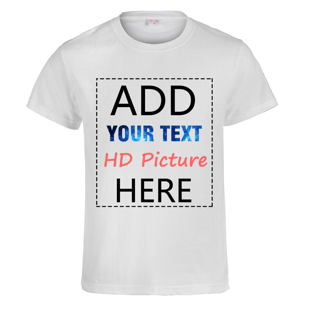 ca8d5bf012f Customized DIY T Shirt Print Your Own Design Photo Text Logo High Quality  Team Company Cotton Women Man Unisex Tee Tops T Shirt Geek T Shirts Mens  Formal ...
