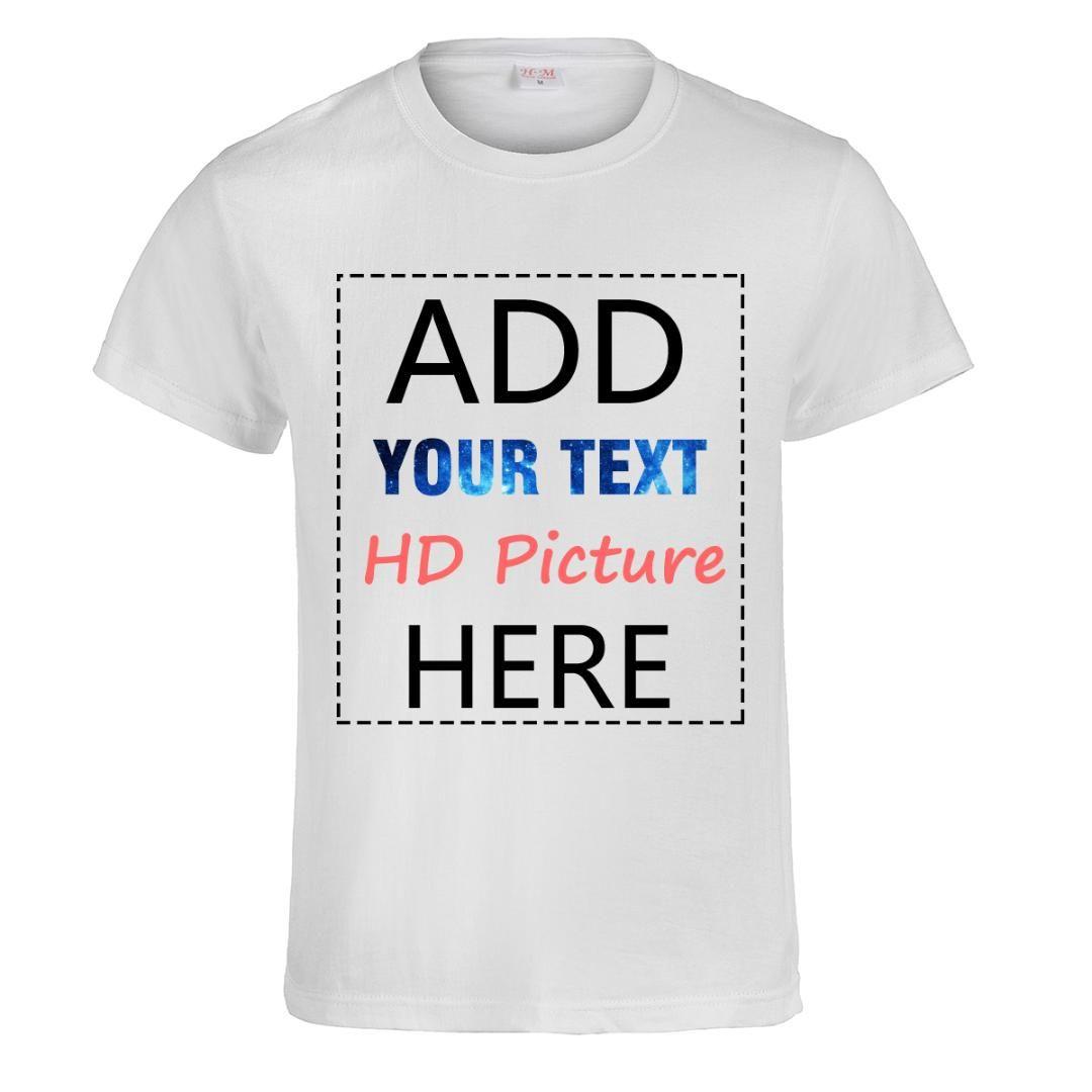 39556b175 Compre Personalizado Diy T Shirt Imprimir Seu Próprio Projeto Logotipo Do  Texto Da Foto De Alta Qualidade Da Equipe Da Empresa De Algodão Mulheres  Homem ...