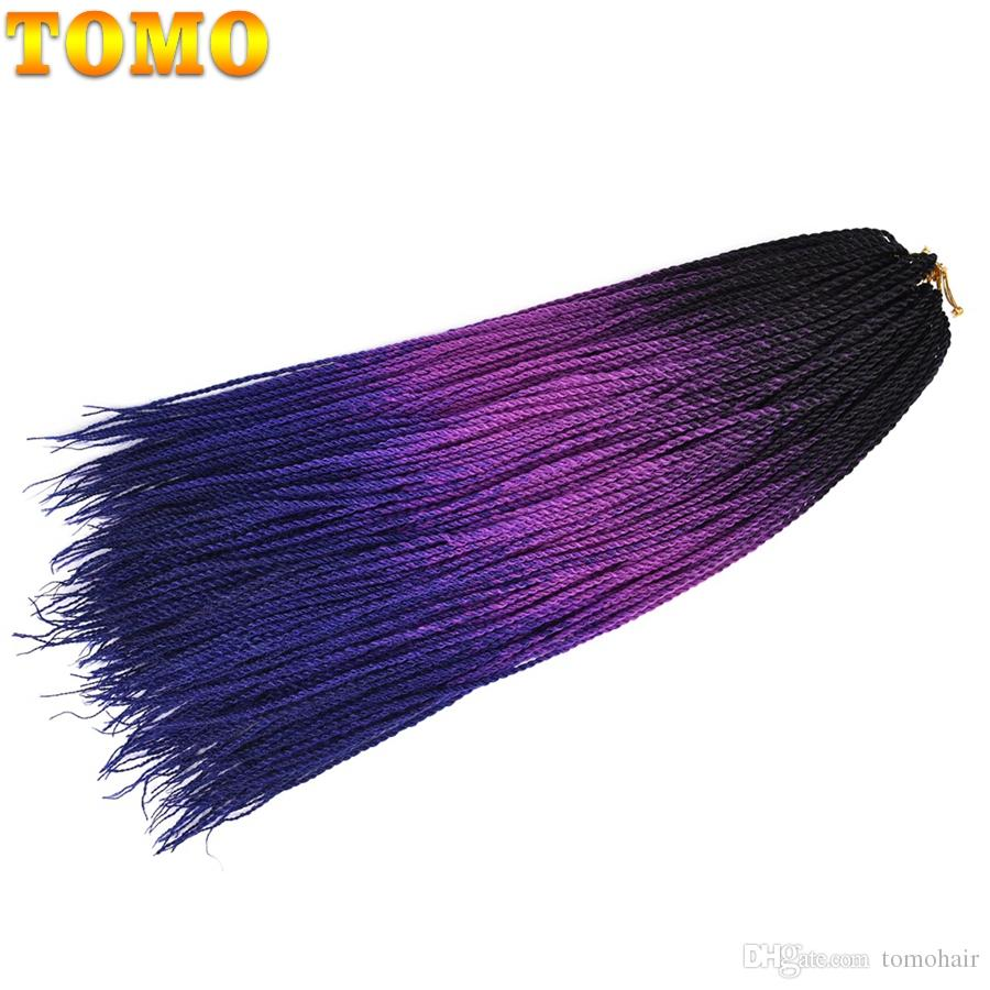 2019 Tomo Small Senegalese Twist Braids 24 Inch Thin Crochet Hair