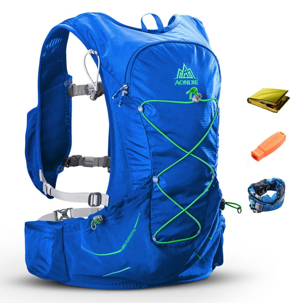 2018 Aonijie 15l Men Women Hydration Backpack Outdoor Sports Running Waist Bag Blue Green Marathon Cross Country Trail Racing Hiking Pack Rucksack From Hougo