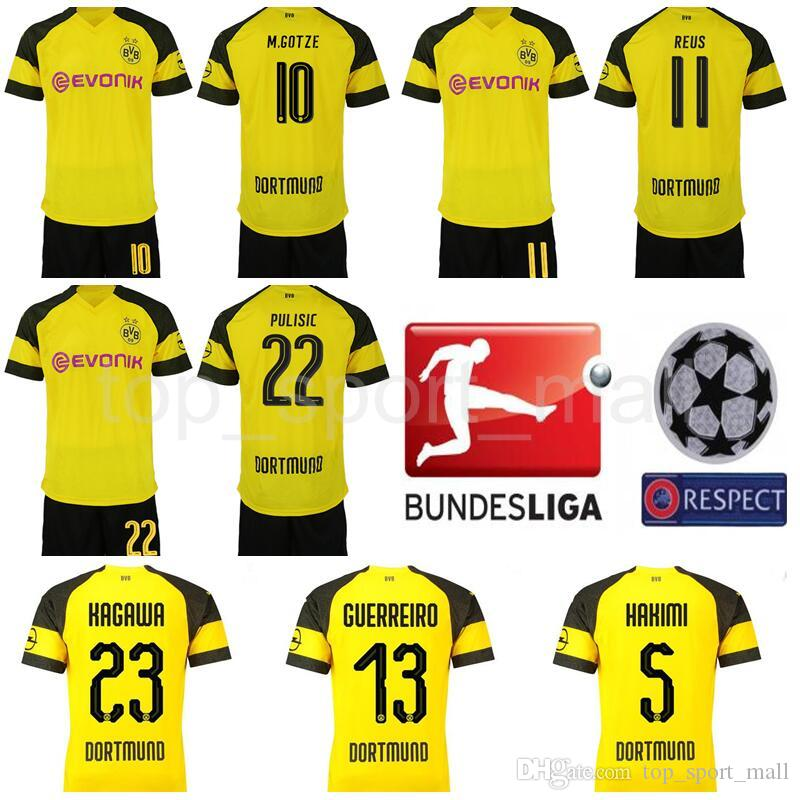 Kids Borussia Dortmund Youth REUS Jersey Soccer Sets BVB Children ... 807bf9505