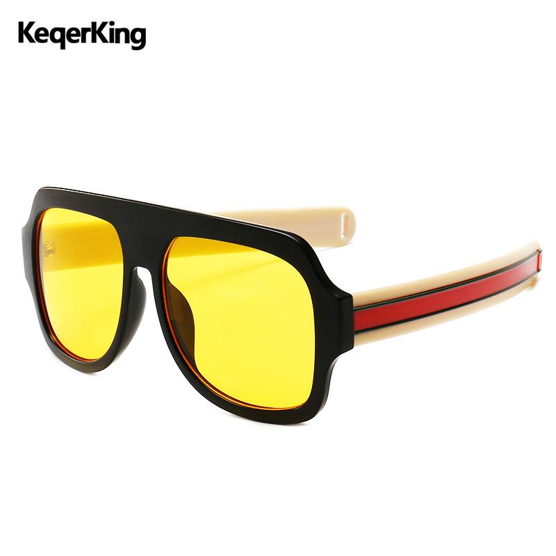 69d2b586010 Vintage Women Sunglasses Men Square Sun Glasses Retro Outsize Frames ...