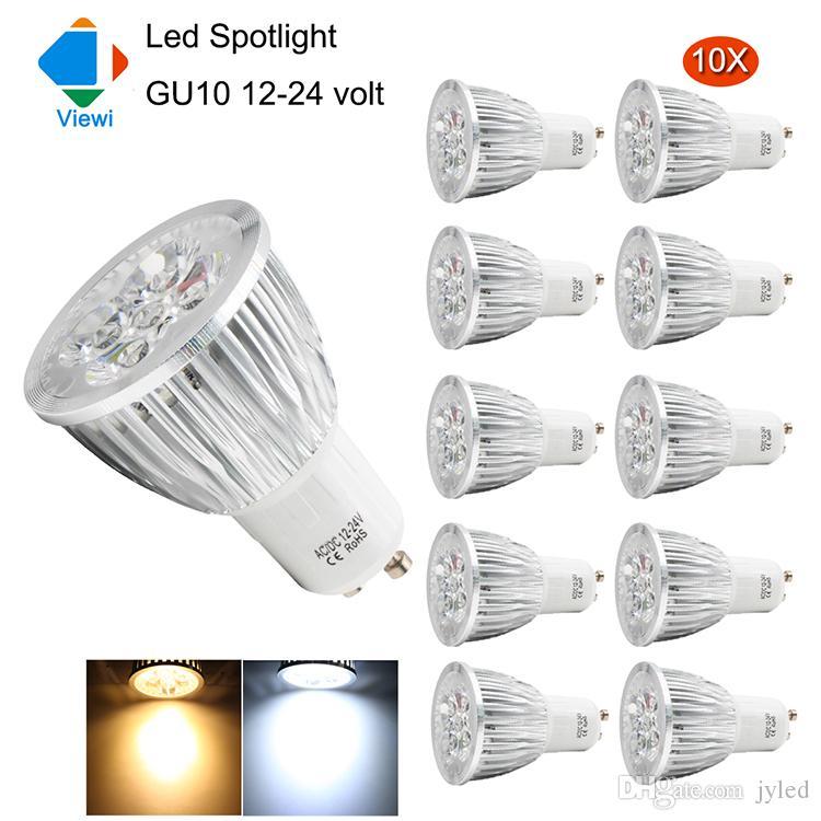 Power Bulbs 10x Aluminum Led Bombillas Home 12 Spotlight High Super Bright Lamp Shell Gu10 Viewi 5w 24v Volt Light Lighting 12v rxCodeB