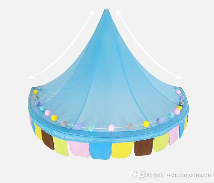 لعب الأطفال تلعب منزل الطفل يمكن أن تتحرك شنقا الجدار الخيام الملونة الأميرة تصميم جديد فتاة هدية خيام الاطفال 1.5M