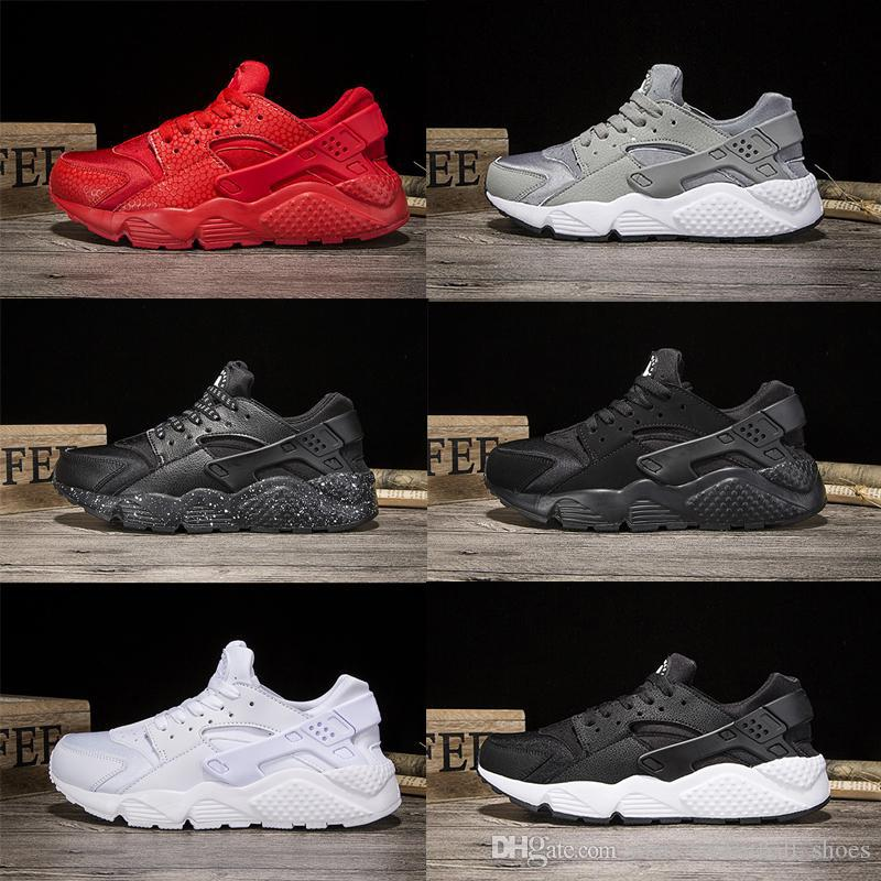 pretty nice 5df54 d8241 Wholesale Huarache I Running Shoes Triple white black red Grey Gold men  women Outdoor Sneakers Huaraches 1 Runner Athletic Sport Shoes 36-45