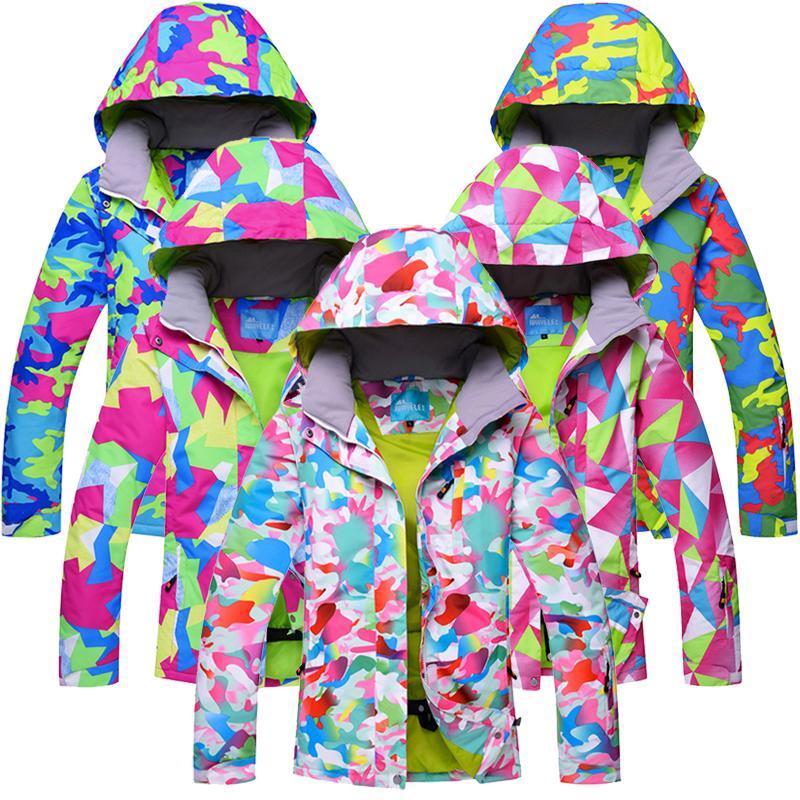 823310ac1 RIVIYELE 2018 Women Ski Jacket Ski Wear Waterproof Windproof ...