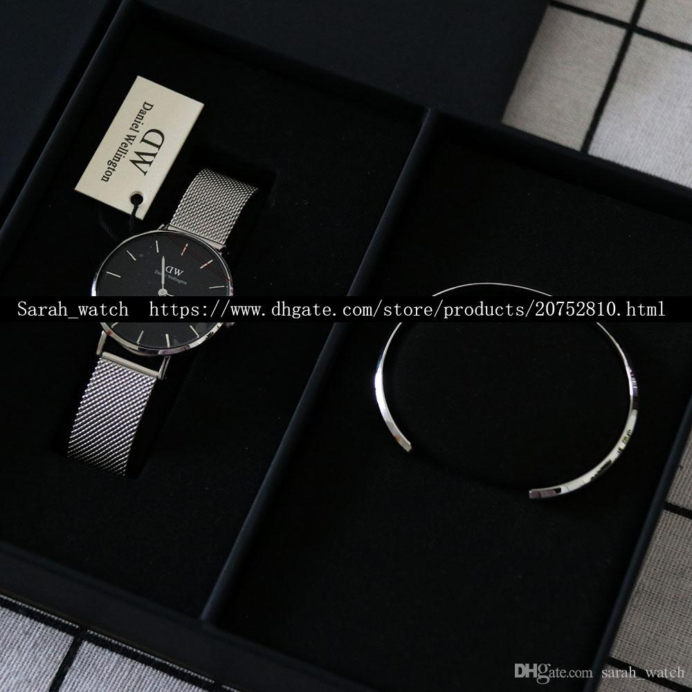 Best Version Combination 28mm & 32mm Women Watch + Women Bracelet + Black Box + Black Bag