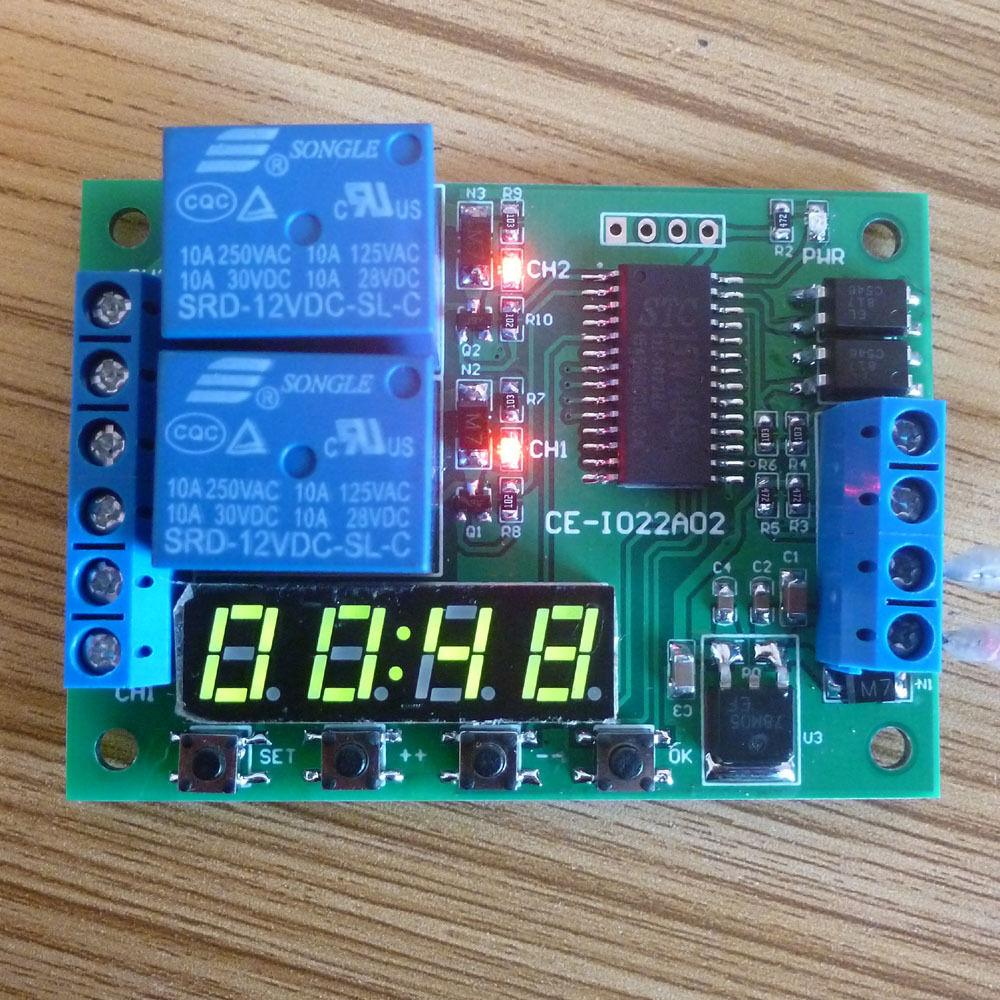 2018 Dc 12v Multi Function Digital Delay Time Cycle Timer Timing Pressed And Circuit Goes To On State Relay Switch A High Power Led Module For Plc Motor From Seeyouseeme 240