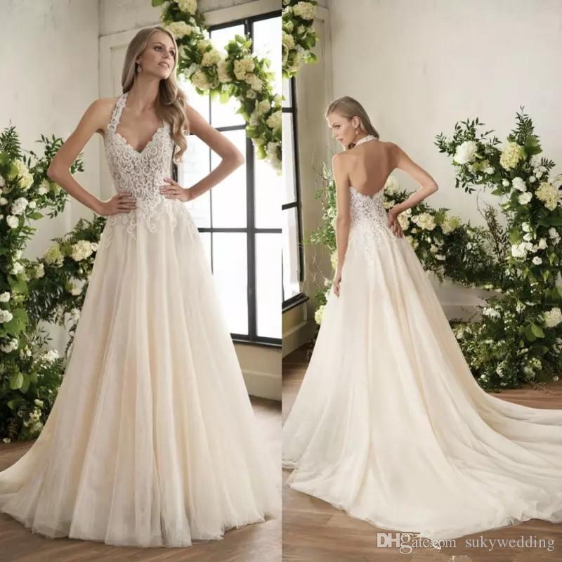 compre vestidos de novia de encaje jasmine apliques de encaje con