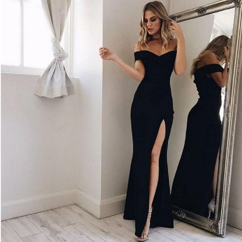 huge selection of incredible prices aesthetic appearance Women Dress Summer 2019 Elegant Russian Style Split Solid Floor-Length  Sheath Bodycon Party Dress Ladies Fashion Casual Vestidos