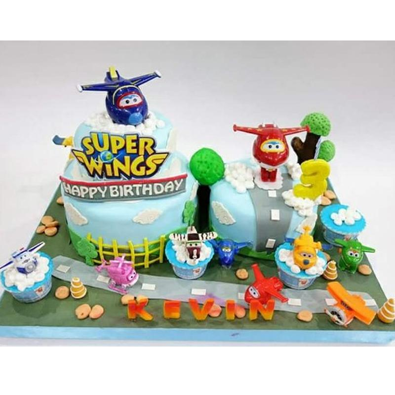 Super Wings toys cake topper,wings shape cake tool birthday supplies, party decorations kids,cake topper,cake decoration tools