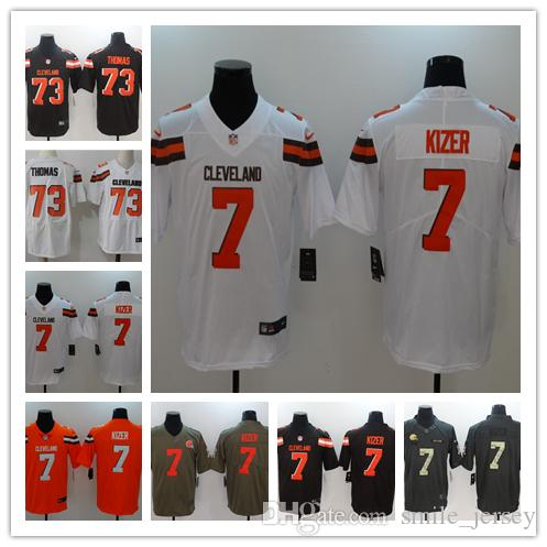 promo code 63eaa dee7d 2019 New Mens 7 DeShone Kizer Cleveland Jersey Browns Football Jersey 100%  Stitched Embroidery Browns Joe Thomas Color Rush Football Shirts