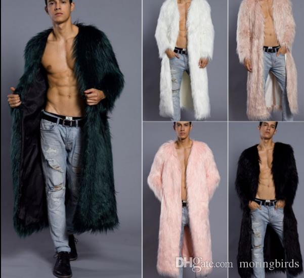 72ca3ce5d3 Acheter New Style 2018 Imitation Fourrure Vêtements Hommes Vêtements De  Mode Long, Manteau De Fourrure, Manteau De Fourrure Et Taille De Manteau  Épais: S ...