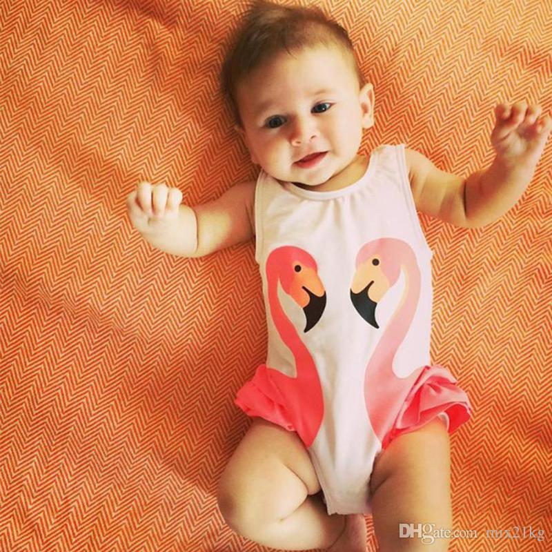 206b07c05cf40 2019 Flamingo Girls Swimwear Cute Kids Swimsuit With Swimming Cap Swan Baby  Grl Bathing Suit One Pieces Swim Wear For Children From Mix21kg, $5.73 |  DHgate.