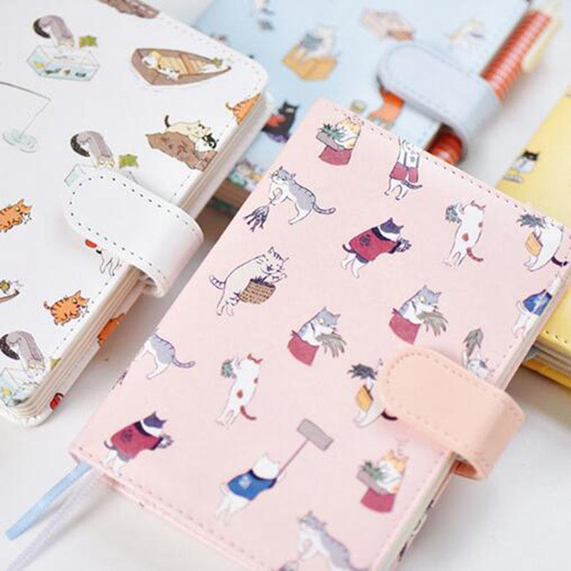 Cute Kawaii Cat Notebook Cartoon Cute Journal Diary Planner Notepad For Kids Gift Korean Stationery Hand Book