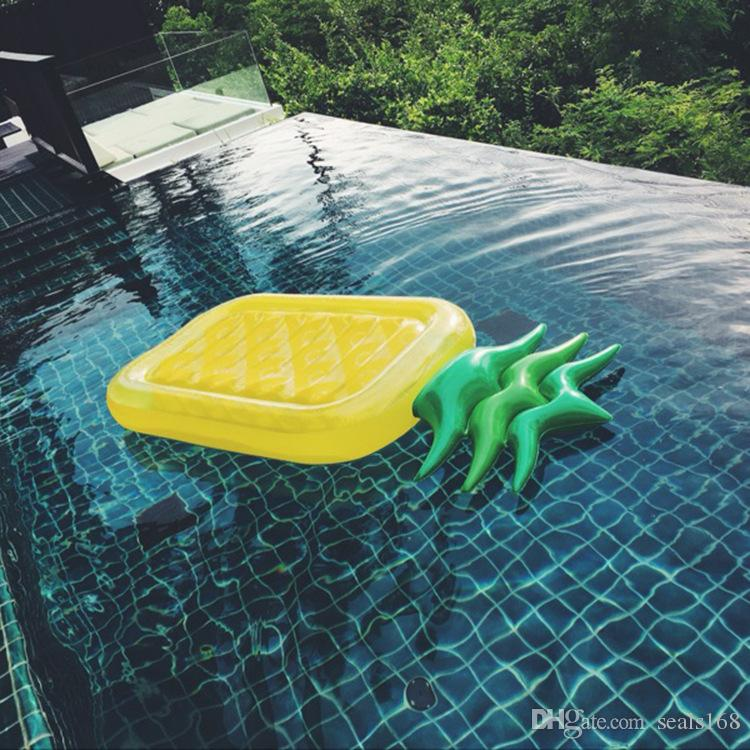 180*90cm Inflatable Pineapple Pools Float Raft Large Outdoor Swimming Pools Inflatable Float Toy Lounge Toy for Adults And Kids HH7-1