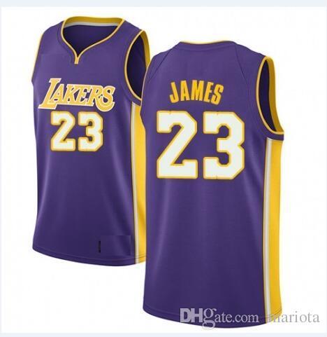 f87a67bea80d 2019 2018 Men S Los Angeles Lakers  23 LeBron James Swingman Purple Jersey  Statement Edition Cheap Icon Edition Cheap Sports Custom Retro USA From  Mariota