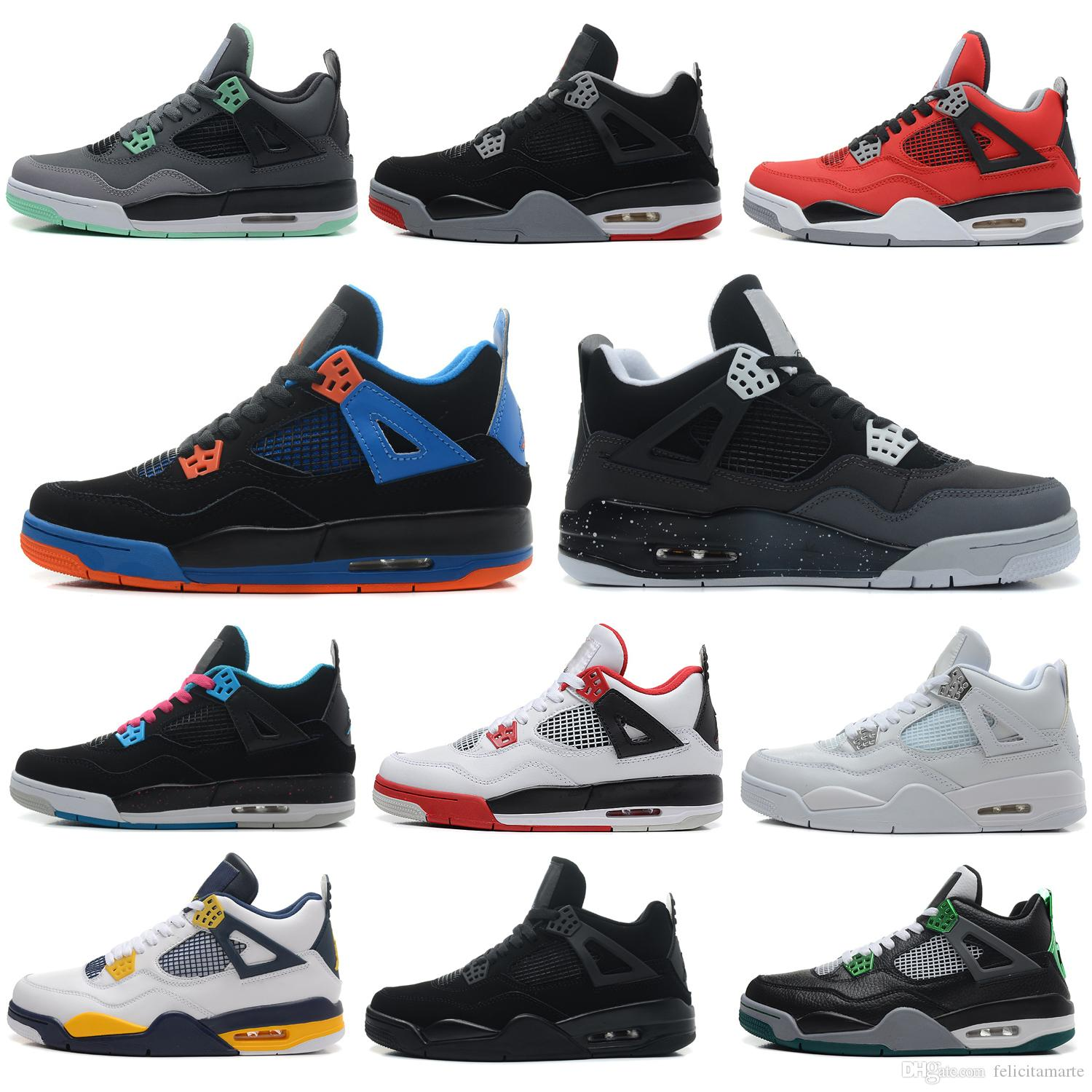 611a29da161 2019 2018 4 4s Basketball Shoes Men Pure Money Royalty White Cement Raptors  Black Cat Bred Fire Red Mens Trainers Air Sports Sneakers From  Felicitamarte, ...