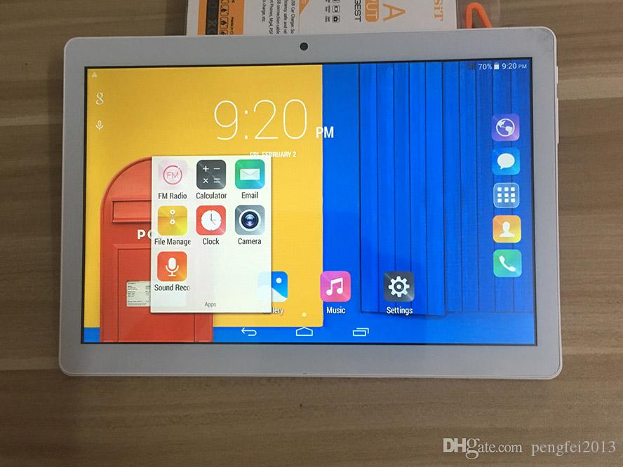DHL telefone gratuito de envio de 10,1 polegadas Tablet PC MTK6580 Quad Core 3G telefone Android4.4.2 Tablet 1GB Ram 16GB Rom com IPS tela Wi-Fi Bluetooth