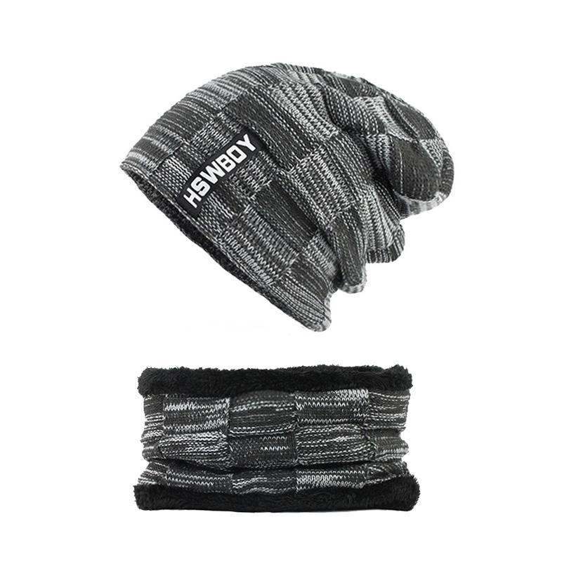 ffcc255d1b32 Sombreros de invierno Skullies Gorros Sombrero Gorros de invierno para  hombres Mujeres Bufanda de lana Gorros Pasamontañas Gorras Bonnet de punto