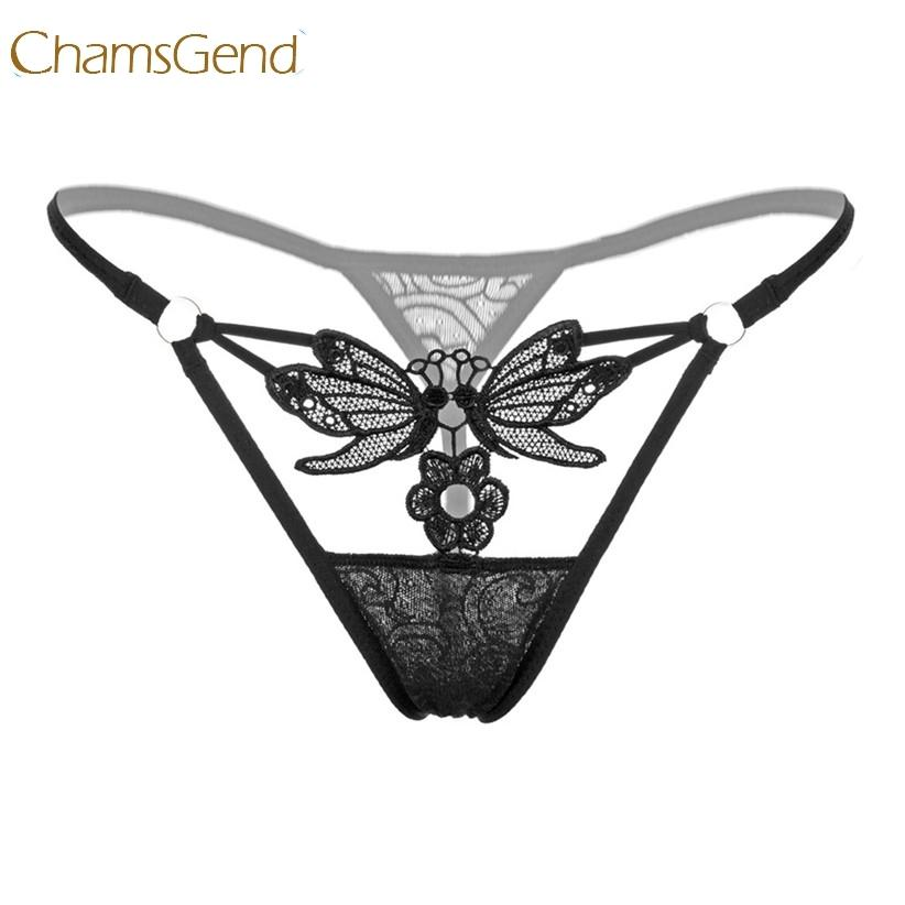 Compre Chamsgend Butterfly Lace G String Mujeres Sexy Ropa Interior Íntima  Low Wasit Tangas G String Panty 170711 S1018 A  8.13 Del Ruiqi06  115d2ce3880d