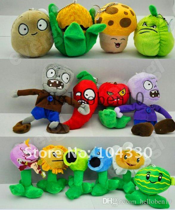 Caldo! Il peluche zombie vs pianta, ogni confezione di 14 personaggi diversi, simpatici; moda.