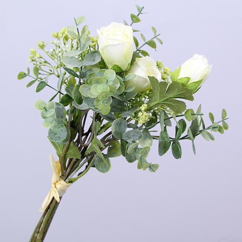 2019 Simulation Flower Small Ranunculus Gypsophila Bundle Artificial