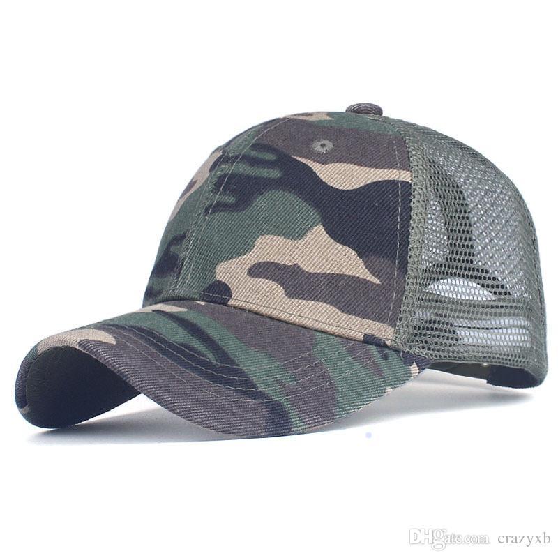 0edc905381c Camouflage Baseball Cap Mesh Cap for Men Women Snapback Hat for Men ...