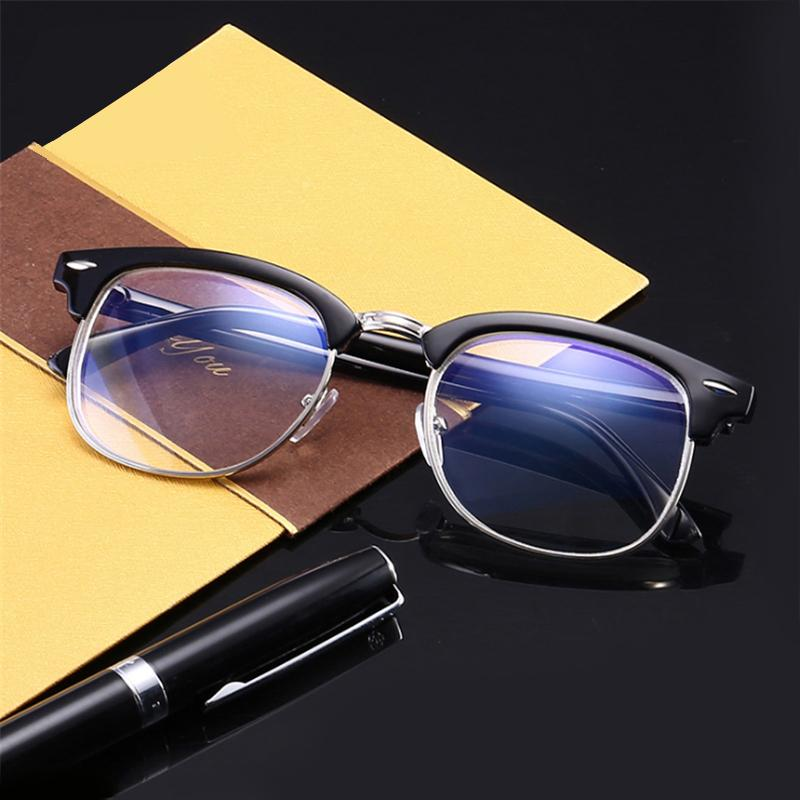 984d1a83de Mincl Retro Square Frame Metal Myopia Glasses Finished Fashion Art ...