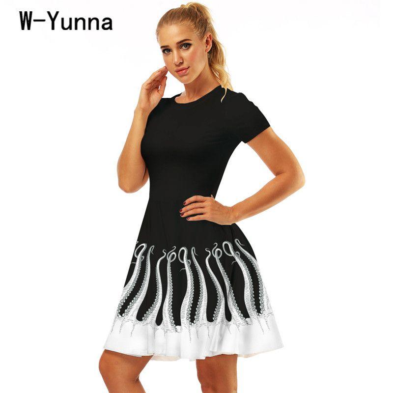 W Yunna Summer Dresses For Women Best Selling Octopus Digital ...